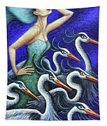 Heron's Run Tapestry by Amy E Fraser