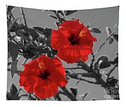 Hibiscus Selective Color Tapestry