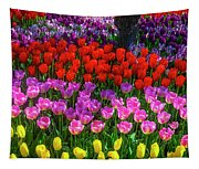 Hidden Garden Of Beautiful Tulips Tapestry