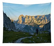Hiker In The Morning Tapestry