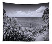 Hiking On Tiritiri Matangi New Zealand Bw Tapestry