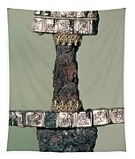 Hilt Of A Viking Sword Found At Hedeby, Denmark, 9th Century Tapestry