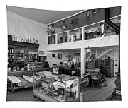 Hindsman General Store - Allensworth State Park - Black And White Tapestry