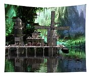 Hippies Hideout  Tapestry