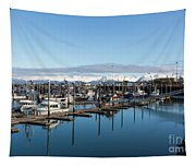 Homer Alaska Fishing Port Tapestry