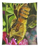 Honey Bee On Mexican Heather Tapestry