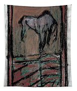 Horse Stables Tapestry