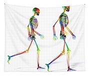 Human Skeleton Pair Tapestry