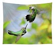 Hummingbirds Ensuing Battle Tapestry