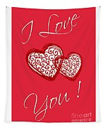 I Love You Hearts Tapestry