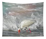 Ibis And A Tinted Sea Tapestry