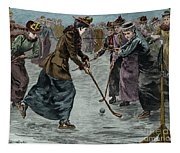 Ice Hockey  Ladies Match On The Lake In Wimbledon Park Tapestry
