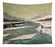 Icey River Tapestry