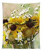 Impressionist Wildflower Arrangement Tapestry by Shelli Fitzpatrick