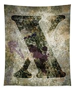 Industrial Letter X Tapestry