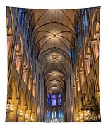 Interior Of Notre Dame De Paris Tapestry