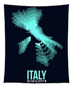 Italy Radiant Map 1 Tapestry