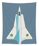 J35 Draken Swedish Air Force Jet Aircraft - Slate Tapestry