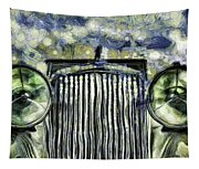Jaguar Car Van Gogh Tapestry