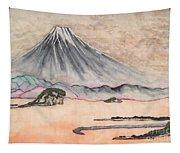 Japan Art And Mount Fuji - Suzuki Kiitsu In Color By Sawako Utsumi Tapestry