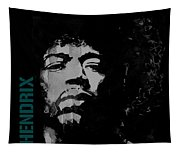 Jimi Hendrix - Retro Black  Tapestry