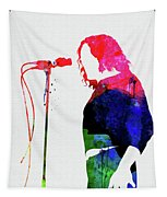 Joe Cocker Watercolor Tapestry