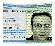 John Lennon Immigration Green Card 1976 Tapestry