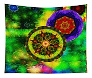 Kaleidoscope Moon For Children Gone To Soon Number - 3 Intensified  Tapestry