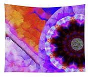 Kaleidoscope Moon For Children Gone Too Soon Number - 5 Flame And Flower  Tapestry