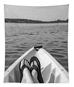 Kayaking In Black And White Tapestry