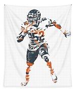Khalil Mack Chicago Bears Pixel Art 1 Tapestry