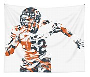 Khalil Mack Chicago Bears Pixel Art 30 Tapestry