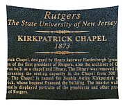 Kirkpatrick Chapel - Commemorative Plaque Tapestry