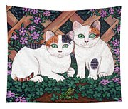 Kittens And Clover Tapestry