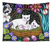 Kittens In A Basket Tapestry