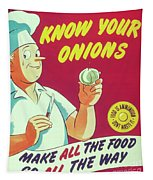 Know Your Onions Tapestry