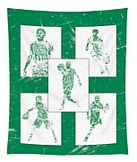 Kyrie Irving Boston Celtics Panel Pixel Art 1 Tapestry