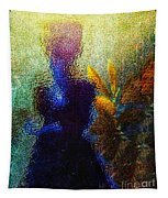 Lady In The Garden Tapestry