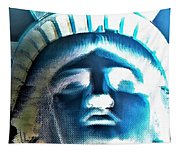 Lady Liberty In Negative Tapestry