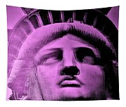 Lady Liberty In Pink Tapestry
