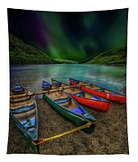 lake Geirionydd Canoes Tapestry
