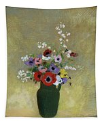 Large Green Vase With Mixed Flowers, 1912 Tapestry