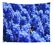 Lavender Field With Bee Tapestry