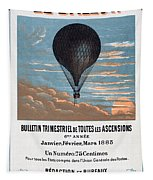 Le Ballon Aeronautical Journal, 1883 French Poster Tapestry