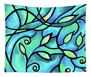 Leaves And Curves Art Nouveau Style II Tapestry