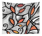 Leaves And Curves Art Nouveau Style Xii Tapestry