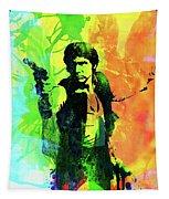Legendary Han Solo Watercolor Tapestry