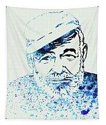 Legendary Hemingway Watercolor Tapestry