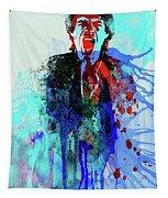 Legendary Mick Jagger Watercolor Tapestry