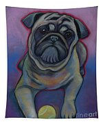 Lets Play Pug  Tapestry